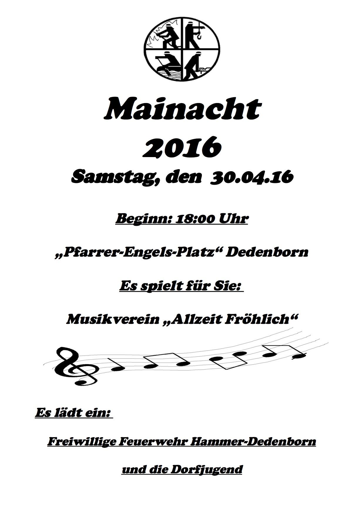 Einladung Mainacht 2016