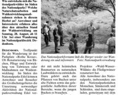 Wochenspiegel Monschau, 24. August 2016