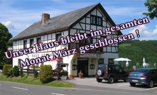 Haus Dedenborn geschlossen